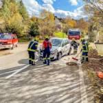 Fahrzeugseitenlage nach Verkehrsunfall