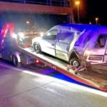 Verunfallter Porsche durch Feuerwehr Wiener Neudorf geborgen