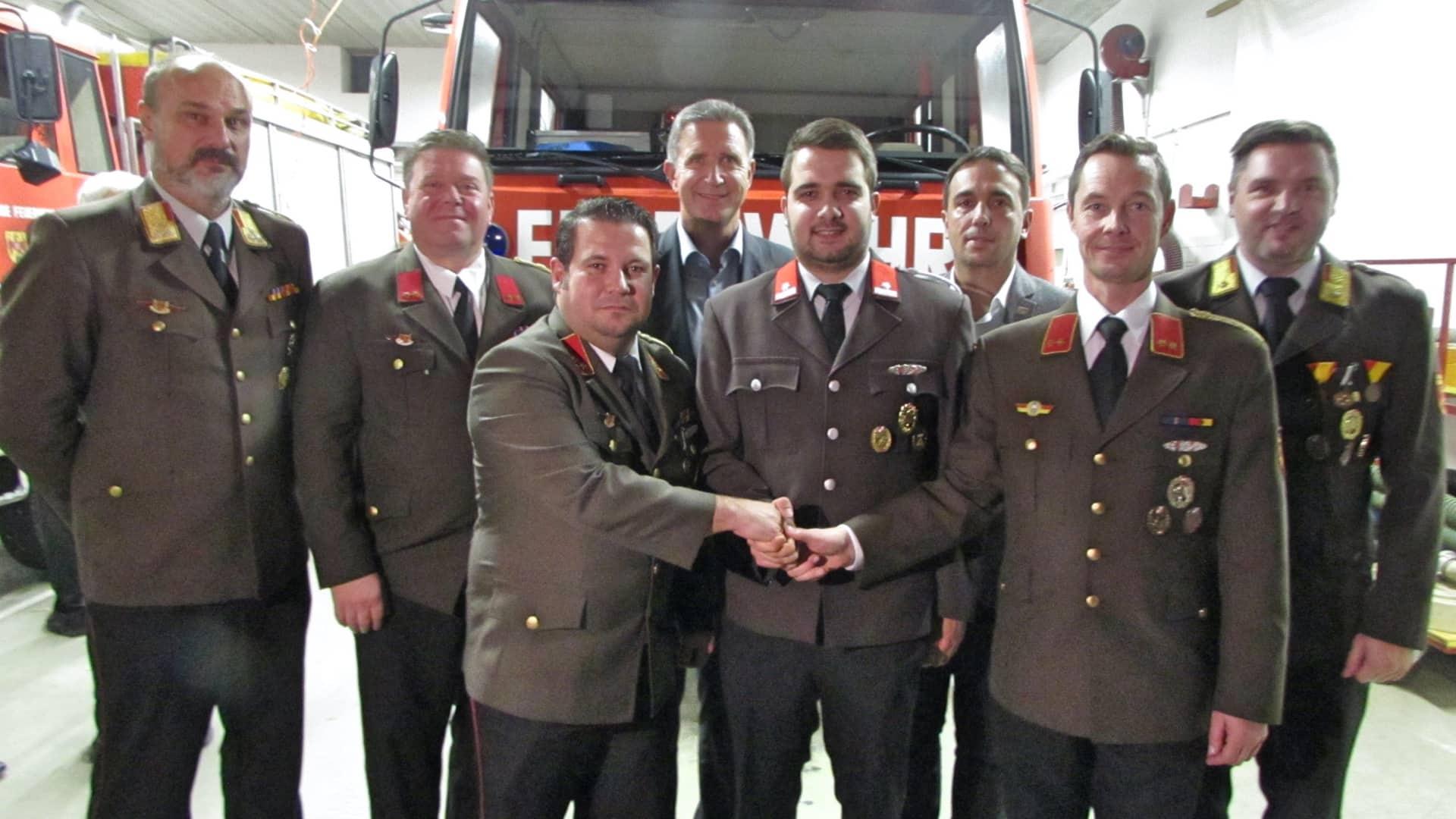 Neuer Kommandant Stellvertreter bei der Feuerwehr Rudersdorf-Ort
