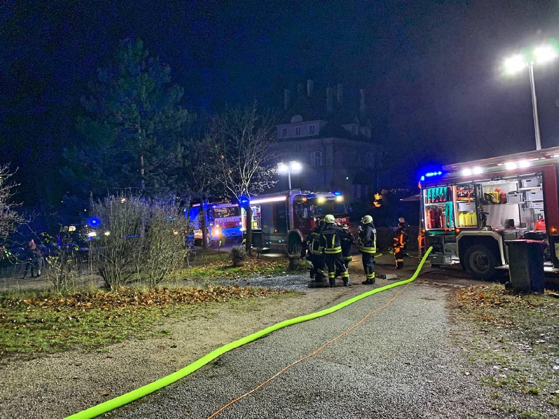 Brandverdacht in einem Wohnhaus in der Villenkolonie in Wöllersdorf