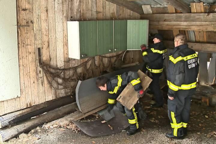 Hangrutsch bei Gröbming - B320 gesperrt