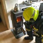 Rauchentwicklung in Mietshaus, Holzofen defekt