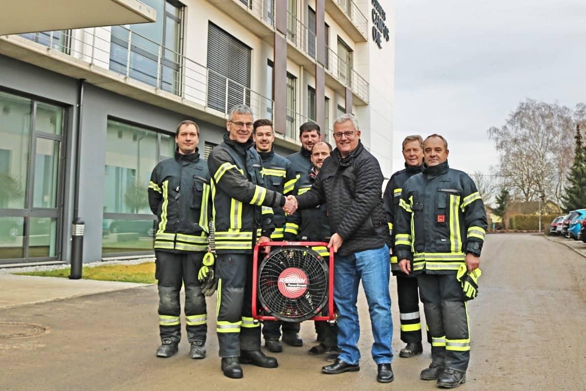 Feuerwehr Hagenberg erhält Hochleistungslüfter
