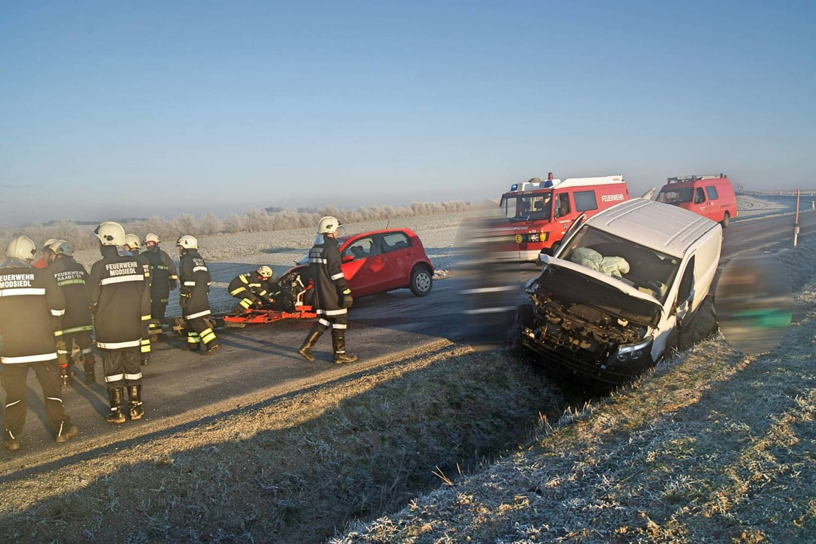 Zwei Verletzte nach Verkehrsunfall auf der L52 bei Modsiedl