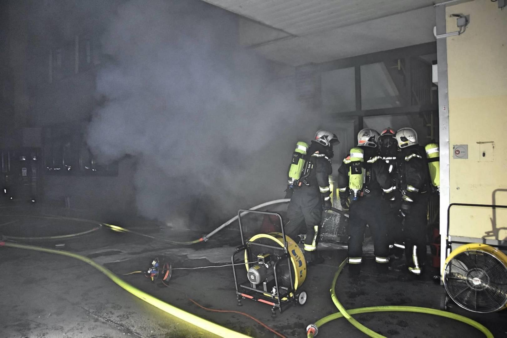 Kellerbrand in Wien-Leopoldstadt
