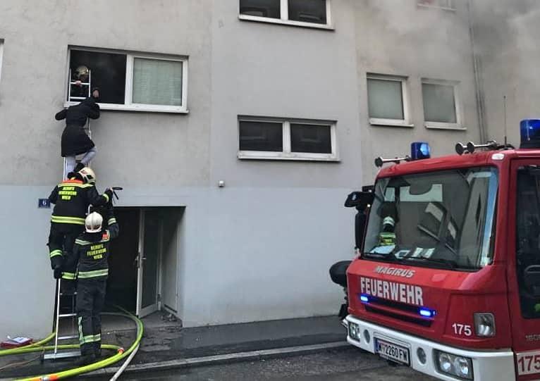 Kellerbrand in Wien - Hernals