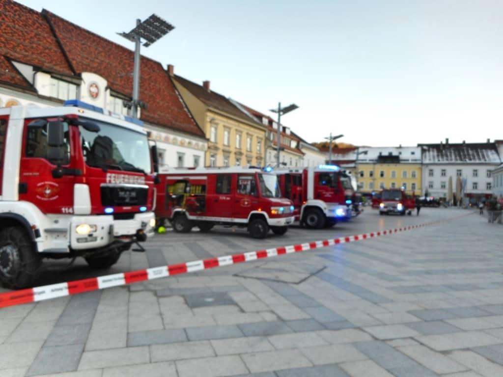 Brand in Tiefgarage am Hauptplatz