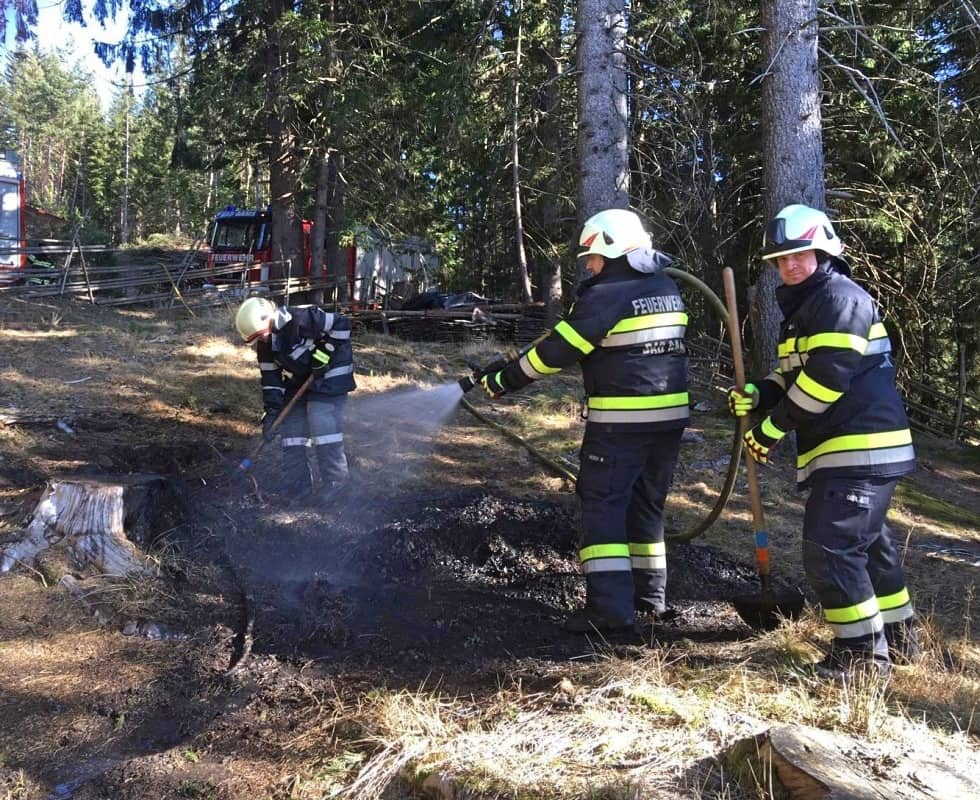 Waldbrand in Bad Gams