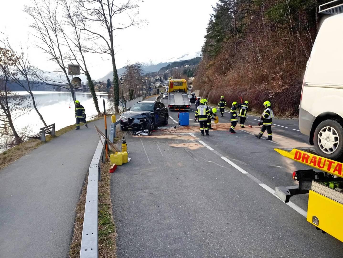 Verkehrsunfall auf der B98 – Millstätter Straße