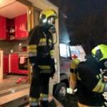Gasaustritt in Zirkuswagen