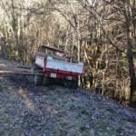 Fahrzeugbergung - Muli bei Wendemanöver abgerutscht
