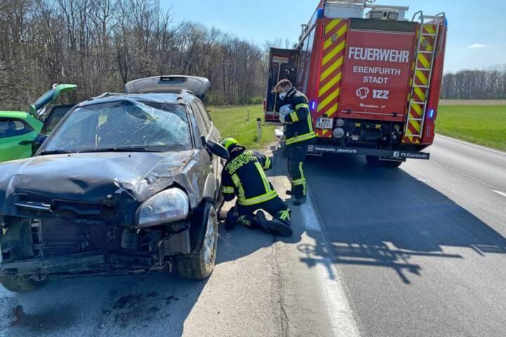 Fahrzeugüberschlag in Ebenfurth endete glimpflich