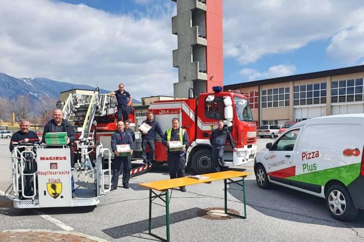 Villacher Pizzeria stärkt Feuerwehr