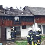 Dachstuhlbrand in Großhain