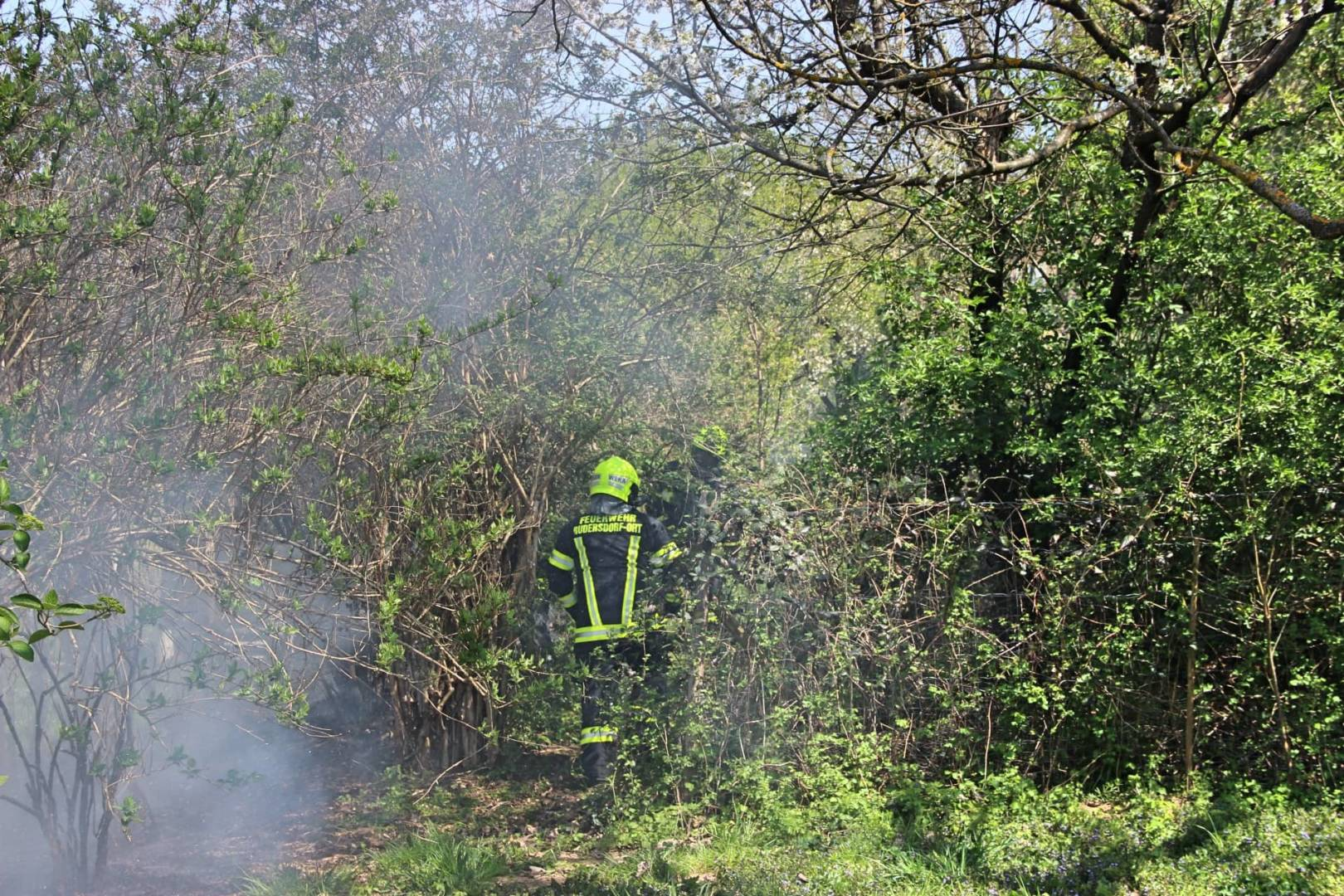 Heckenbrand in Rudersdorf