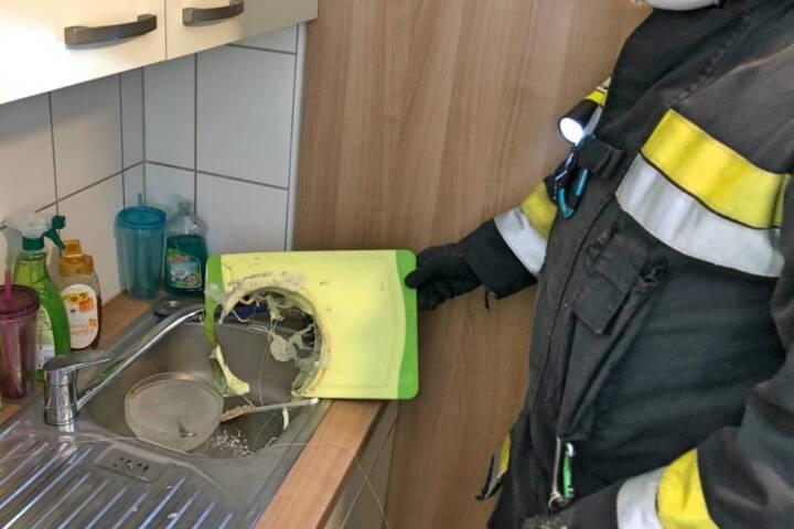 Verhinderter Küchenbrand in Villach - St. Martin