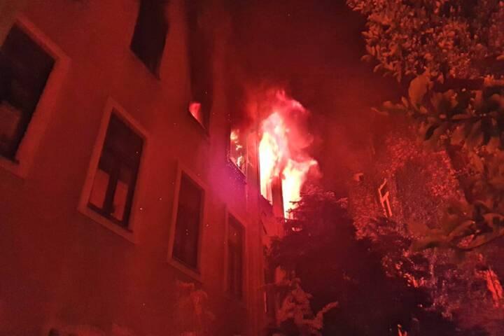 Wohnungsvollbrand in Wien III