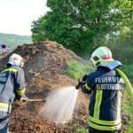 Brand eines Komposthaufens