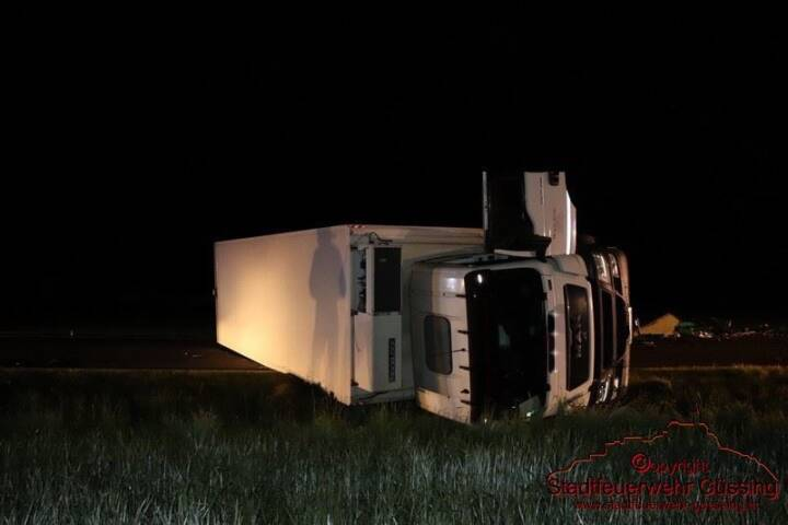 Verkehrsunfall LKW B57 Deutsch Tschantschendorf