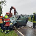 Verkehrsunfall endet mit zwei Verletzten