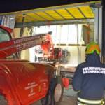 Schwierige LKW Bergung in Heinreichs