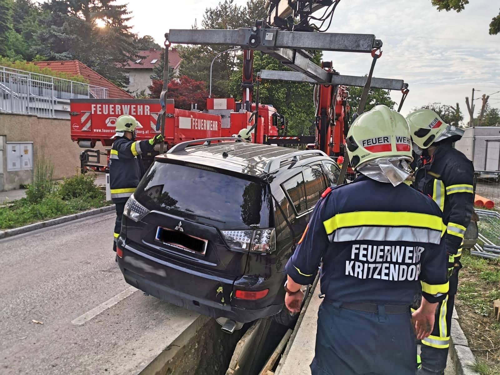 Kraneinsatz in Kritzendorf