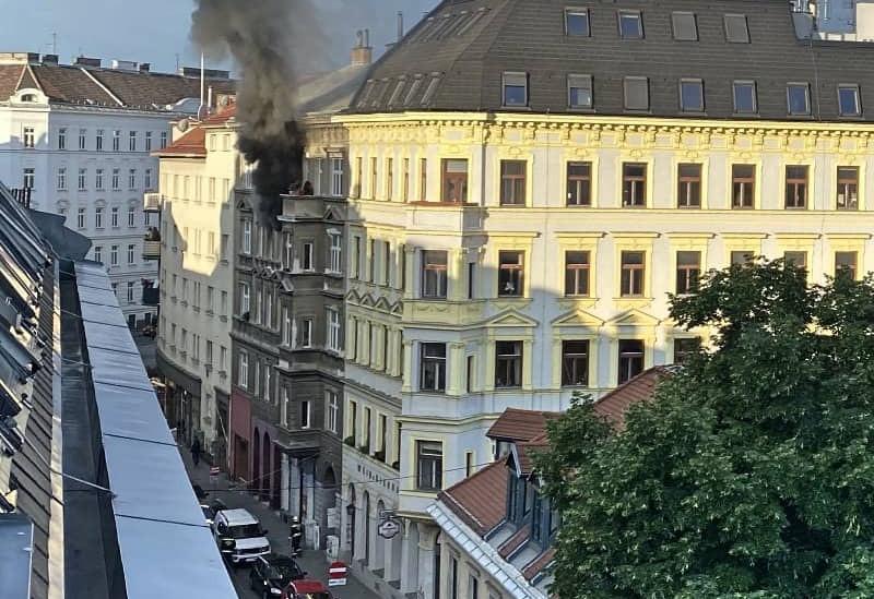 Wohnungsbrand in Mariahilf