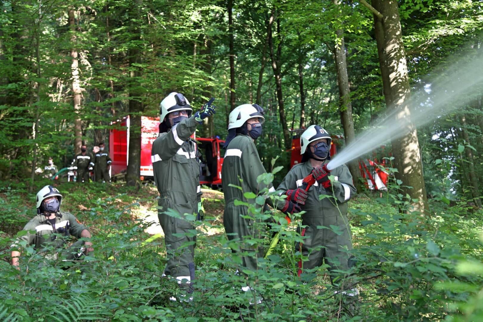 Waldbrandtraining der STF Jennersdorf