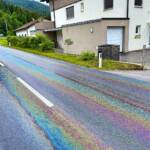 Beseitigung einer Ölspur