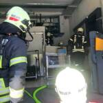 Brand in einem Supermarkt
