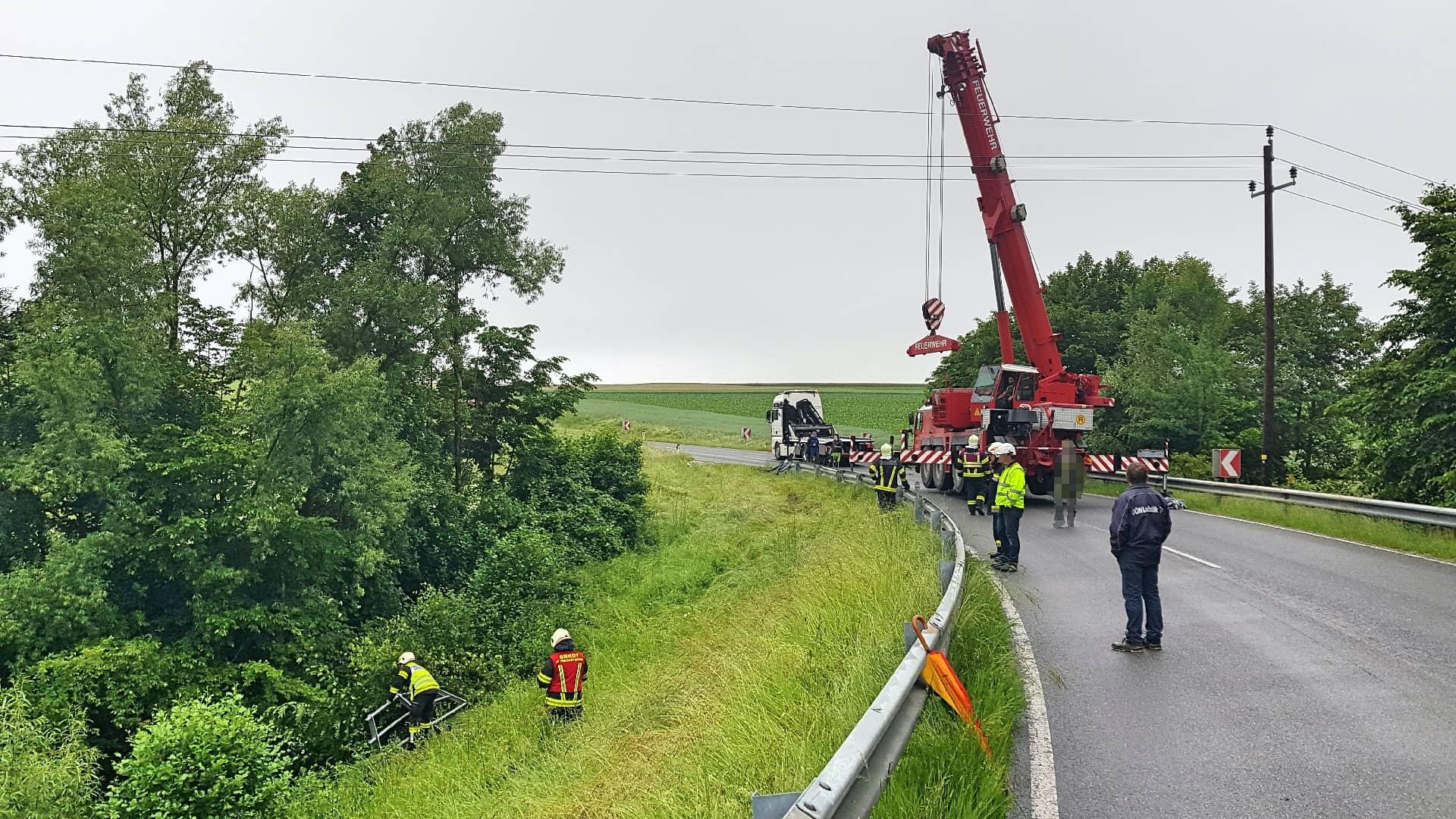 Verkehrsunfall auf Gutauer Landesstraße