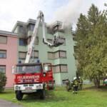 Vier Personen bei Wohnungsbrand gerettet