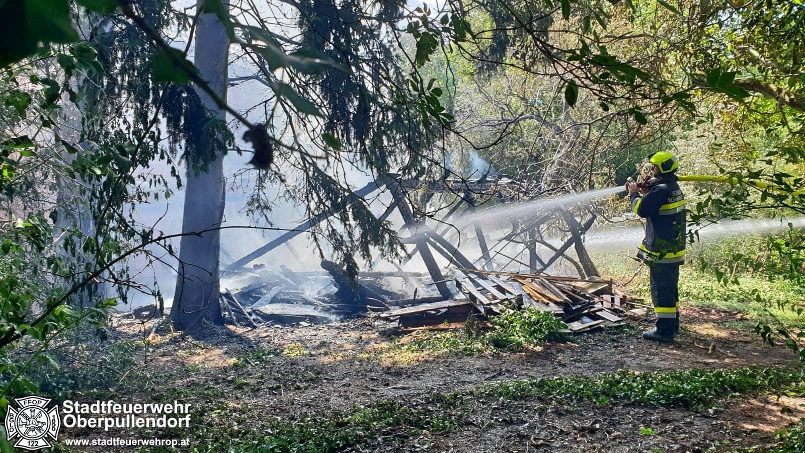 Gebäudebrand in Kleinwarasdorf
