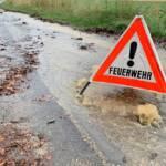 Unwetter fordern Feuerwehren