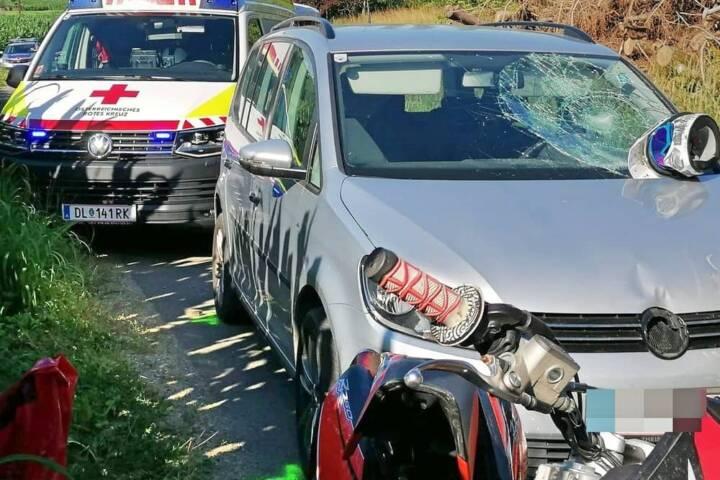 Schwerer Mopedunfall in Wernersdorf