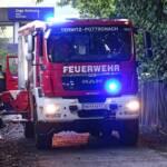 Brand beim Bahnhof Pottschach