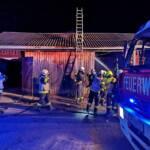 Brand in Pferdestall