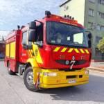 Feuerwehrauto mit österreichischen Adler in Chile