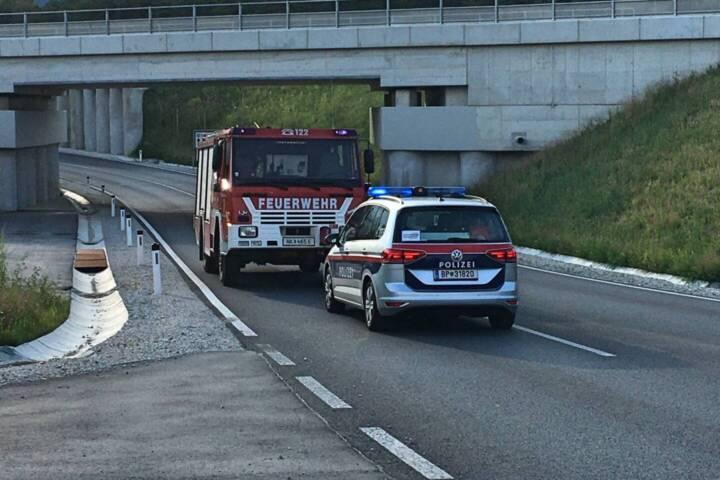 Verkehrsunfall auf der B26