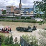 Sicherungseinsatz Hochwasser auf der Drau