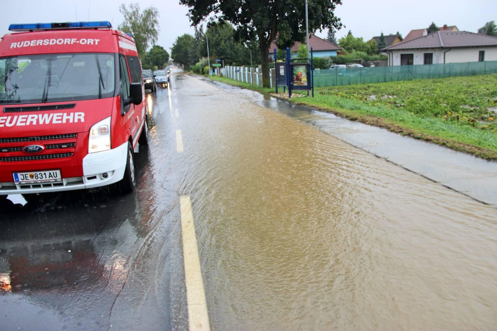 Heftige Unwetter im Bezirk Jennersdorf