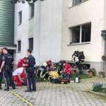 Feuerwehr rettet bewusstlose Person