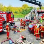 Spektakuläre Alarmübung im Baustellenbereich auf der S6