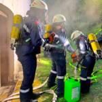 Übung zum Thema Kellerbrand