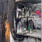Zimmerbrand in Einfamilienhaus