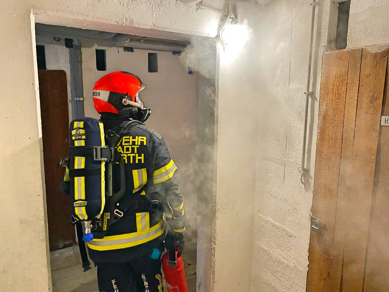 Kellerbrand in Wohnhausanlage