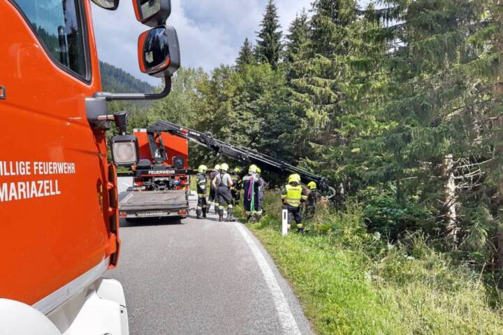 Motorradunfall auf der L113 Niederalpl Landesstraße