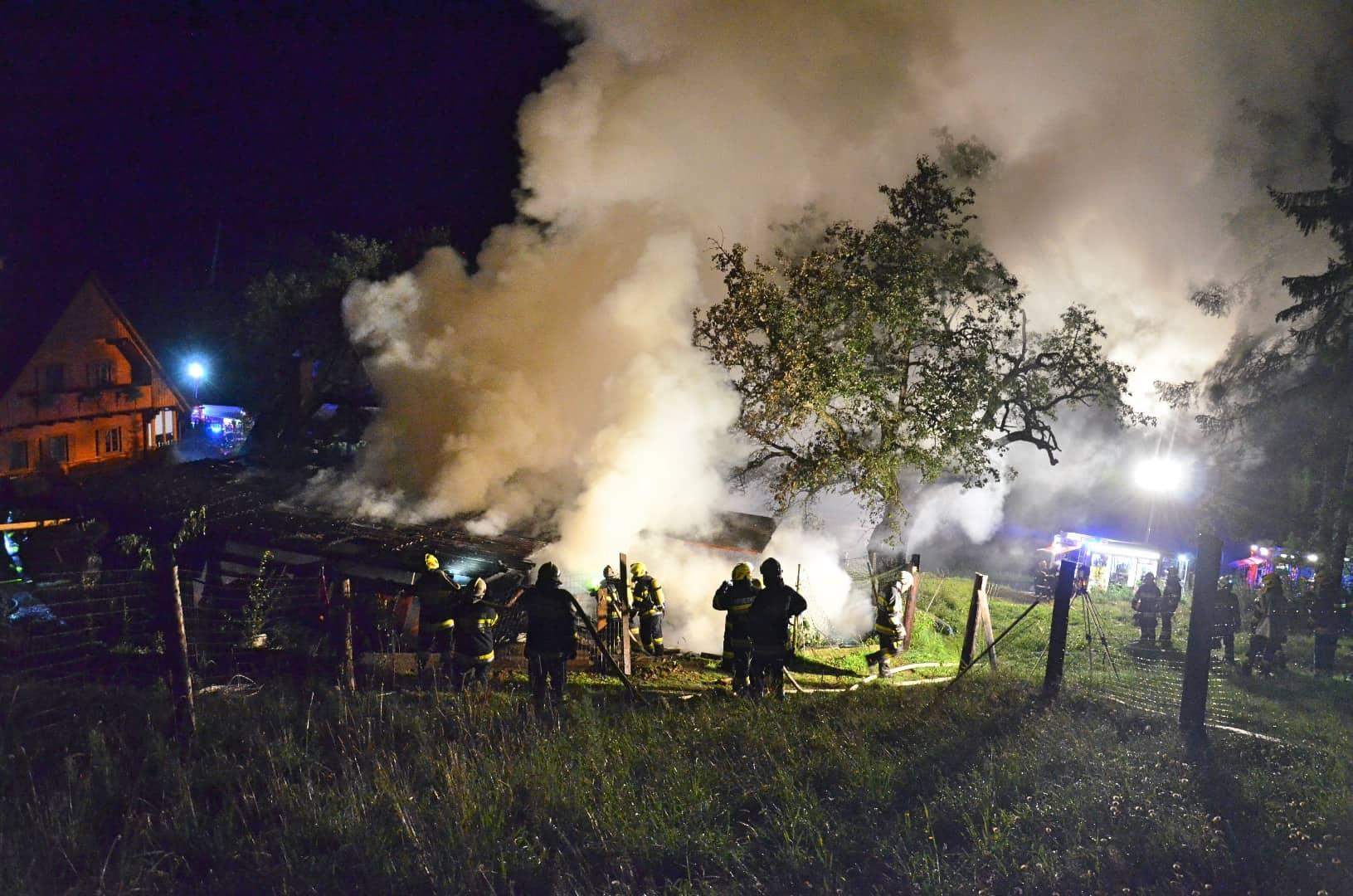 Wirtschaftsgebäudebrand in Trahütten