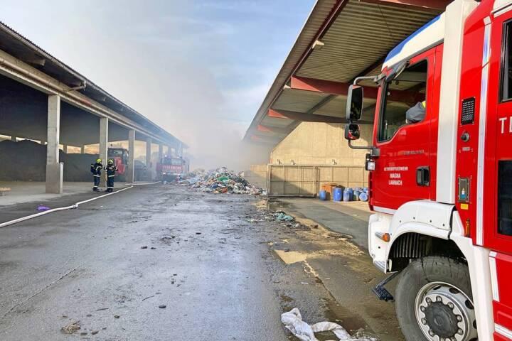 Brand eines Restmüllhaufens in Lannach