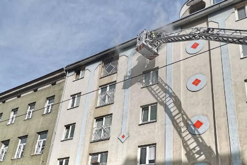 Zimmerbrand in Wien - Wieden
